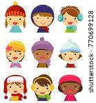 children face collection ... | Shutterstock .eps vector #770699128