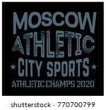 moscow sport t shirt design ... | Shutterstock .eps vector #770700799