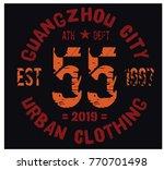 guangzhou sport t shirt design  ... | Shutterstock .eps vector #770701498