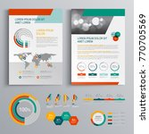business brochure template...   Shutterstock .eps vector #770705569