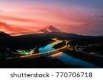 mount fuji and  sunrise in japan | Shutterstock . vector #770706718
