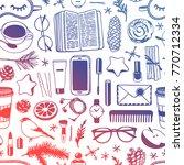 hand drawn fashion illustration.... | Shutterstock .eps vector #770712334