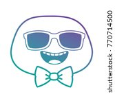 happy emoji face with sunglasses | Shutterstock .eps vector #770714500
