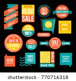 set of after christmas and end... | Shutterstock .eps vector #770716318