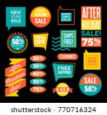 set of after christmas and end... | Shutterstock .eps vector #770716324