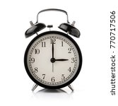 black alarm clock isolated on... | Shutterstock . vector #770717506