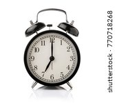 black alarm clock isolated on... | Shutterstock . vector #770718268
