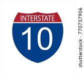 interstate highway road | Shutterstock .eps vector #770737906