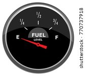 fuel indicator vector | Shutterstock .eps vector #770737918