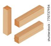 lumber beam plank   Shutterstock .eps vector #770737954
