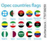 opec countries flags | Shutterstock .eps vector #770738050