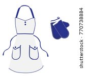 kitchen apron and gloves | Shutterstock .eps vector #770738884