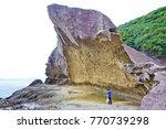 the onigajo rocks were believed ... | Shutterstock . vector #770739298