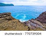 the onigajo rocks were believed ... | Shutterstock . vector #770739304
