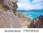 the onigajo rocks were believed ... | Shutterstock . vector #770739310