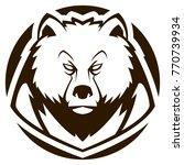 bear head mascot   Shutterstock .eps vector #770739934