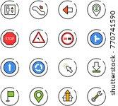 line vector icon set   elevator ... | Shutterstock .eps vector #770741590