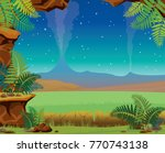 vector landscape with stone... | Shutterstock .eps vector #770743138