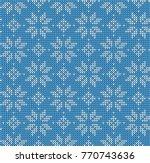 christmas seamless pattern.... | Shutterstock .eps vector #770743636