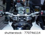 motorcycle indicator digital. | Shutterstock . vector #770746114