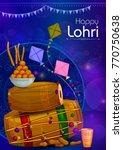 happy lohri punjabi religious... | Shutterstock .eps vector #770750638