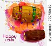 happy lohri punjabi religious... | Shutterstock .eps vector #770750650