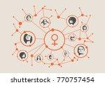 women social media network.... | Shutterstock .eps vector #770757454