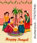 vector design of happy pongal... | Shutterstock .eps vector #770757940