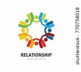 social network team partners... | Shutterstock .eps vector #770758018