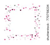 beautiful confetti hearts... | Shutterstock .eps vector #770758234