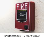 fire alarm on the wall | Shutterstock . vector #770759860