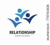 social network team partners... | Shutterstock .eps vector #770761828