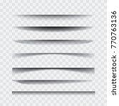 shadows. transparent realistic... | Shutterstock .eps vector #770763136