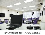 smart class room in the... | Shutterstock . vector #770763568