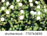 bright green christmas light... | Shutterstock . vector #770763850