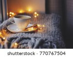 cozy winter or autumn morning... | Shutterstock . vector #770767504