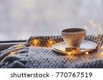 cozy winter or autumn morning... | Shutterstock . vector #770767519