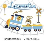 cute animals on classic...   Shutterstock .eps vector #770767813