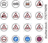 line vector icon set   airport... | Shutterstock .eps vector #770774098