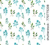 watercolor floral  seamless... | Shutterstock . vector #770775208