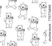 cute polar bear seamless pattern