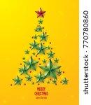 christmas tree illustration  | Shutterstock .eps vector #770780860