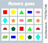 memory game with pictures ... | Shutterstock .eps vector #770781748