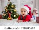 portrait of newborn baby in... | Shutterstock . vector #770783620