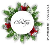 merry christmas party... | Shutterstock .eps vector #770783716