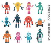 set of robot characters | Shutterstock .eps vector #770785639
