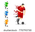vector illustration of soccer... | Shutterstock .eps vector #770793730