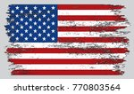 grunge flag of united states... | Shutterstock .eps vector #770803564