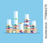 large pile of cardboard boxes...   Shutterstock .eps vector #770806270