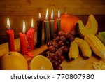 kwanzaa holiday concept with... | Shutterstock . vector #770807980
